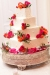 square-red-orange-pink-tier-wedding-cake-icing-fondant-buttercream-ideas-yacht-club-marina-shores