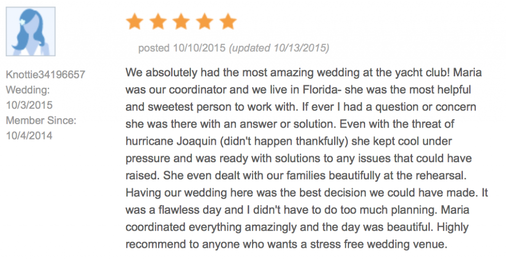 TheKnot Review 5 stars