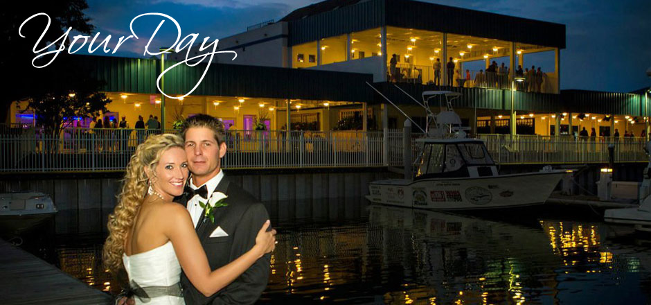 Book your wedding in one of our 3 waterfront rooms